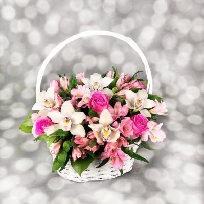Basket of Pink Florarie Iasi