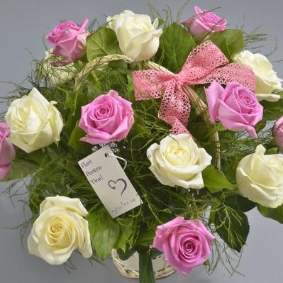 Cos Flori Expresii in Roz