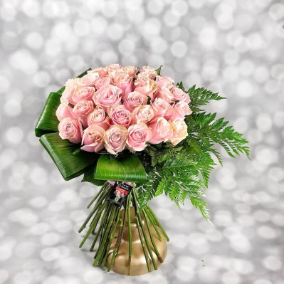Buchet Trandafiri Seductie in Roz